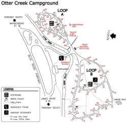 Otter Creek Campground Map