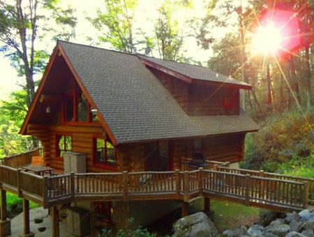 Blue ridge parkway cabin rentals for Blue ridge mountain tennessee cabin rentals