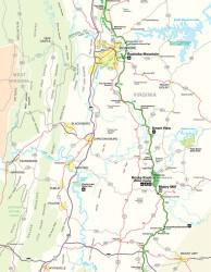 Blue Ridge Parkway Map Thumbnail 2 of 4
