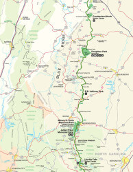 Blue Ridge Parkway Map Thumbnail 3 of 4