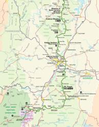 Blue Ridge Parkway Map Thumbnail 4 of 4
