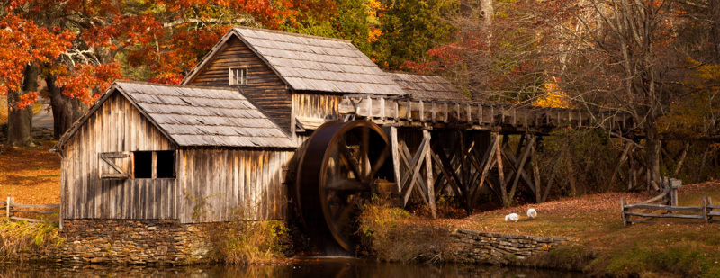 Fall at Mabry Mill
