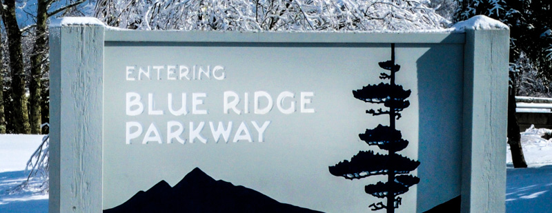 Parkway Sign in Snow