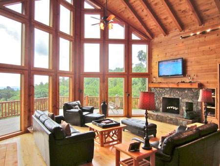 Blue ridge parkway cabin rentals for Asheville nc lodging cabins