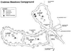 Crabtree Meadows Campground Map