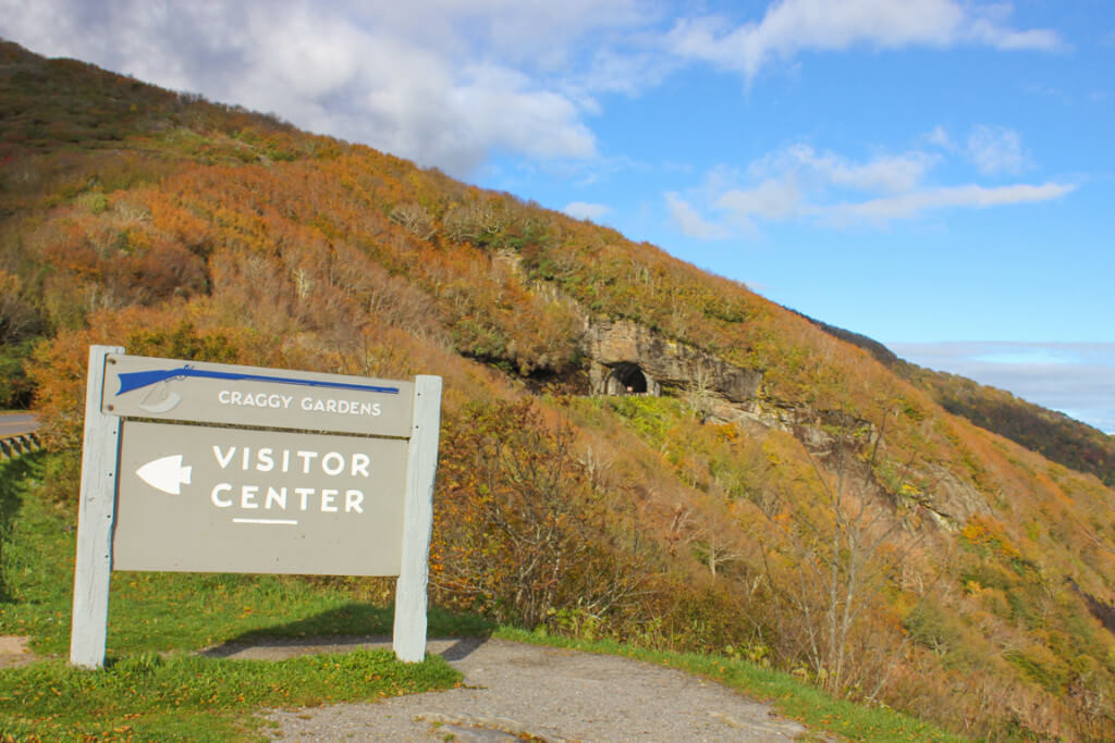 Craggy Gardens Visitor Center and Craggy Pinnacle Tunnel