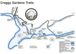 Craggy Garden Trails Map
