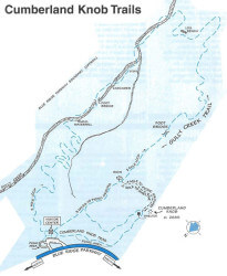 Cumberland Knob Trails Map