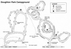 Doughton Park Campground Map