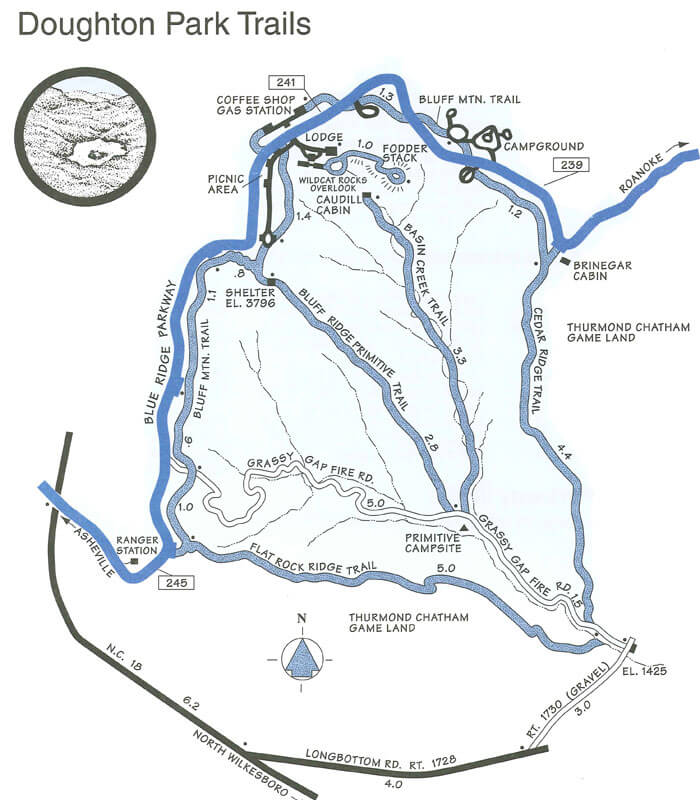 Blue Ridge Parkway Maps