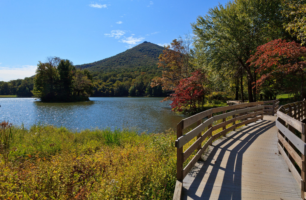 Abbott Lake Walkway at Peaks of Otter