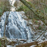 Crabtree Falls in Snow