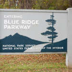 Entering the Blue Ridge Parkway