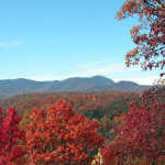 Fall Reds Frame Colored Ridgelines