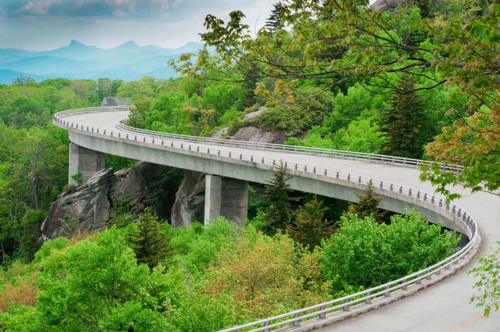 Linn Cove Viaduct in Spring