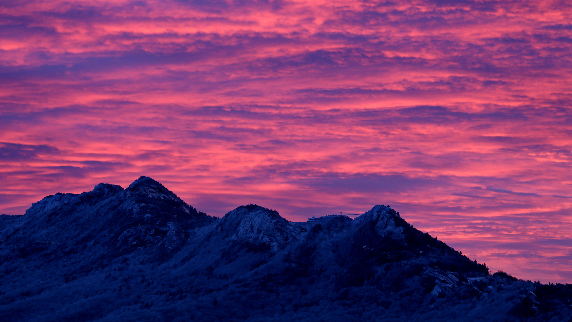 Pink Sunrise over Grandfather Mountain