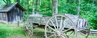 Historic Equipment at Mabry Mill