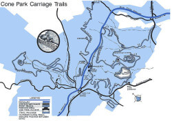 Cone Park Carriage Trails Map