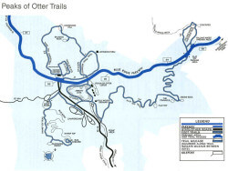 Peaks of Otter Trails Map