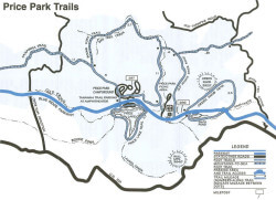 Price Park Trails Map