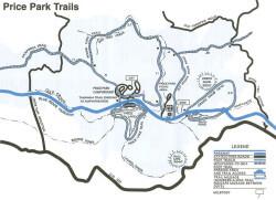 Price Park Trails Map