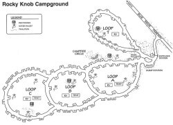 Rocky Knob Campground Map