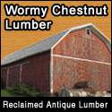 Wormy Chestnut Lumber - antique and rustic reclaimed lumber